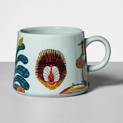 16oz Porcelain Rise And Shine Mug Blue - Opalhouse™