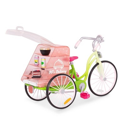 """Our Generation Delivery Bike with Play Food for 18"""" Dolls"""