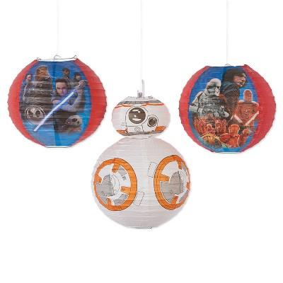 3ct Star Wars Episode Viii Paper Lanterns