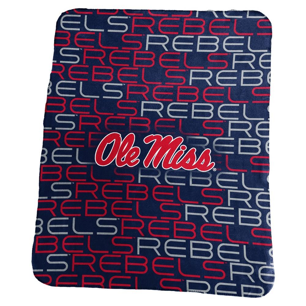 NCAA Ole Miss Rebels Logo Brands Classic Fleece Throw Blanket