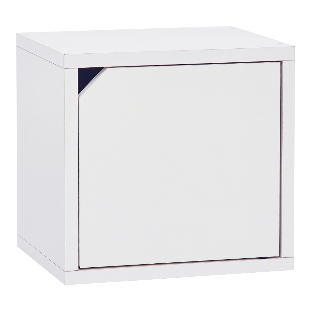 Way Basics Eco Stackable Connect Door Cube Modular Cubby Organizer Storage System - White - Lifetime Guarantee