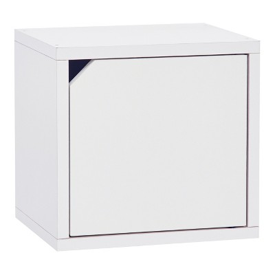Way Basics Eco Stackable Connect Door Cube Modular Cubby Organizer Storage  System   White   Lifetime Guarantee