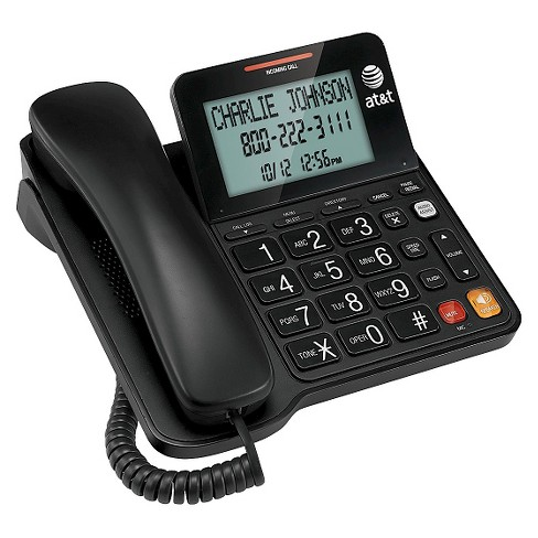 AT&T CL2940 Corded Phone with Caller ID/Call Waiting and Big Buttons - Black - image 1 of 3