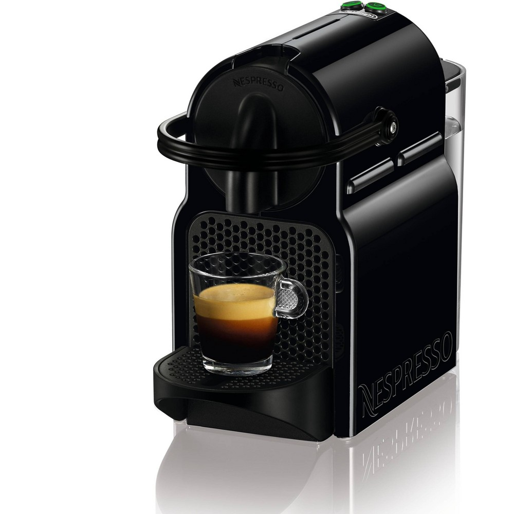 Nespresso Inissia Espresso Machine, Black With a tiny footprint, compact, lightweight and equipped with an ergonomic handle, the Nespresso Inissia by De'Longhi is a smart little coffee machine to make your life easier. Color: Black.