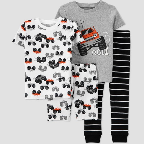Toddler Boys' 4pc Monster Truck Snug Fit Pajama Set - Just One You® made by carter's - image 1 of 3