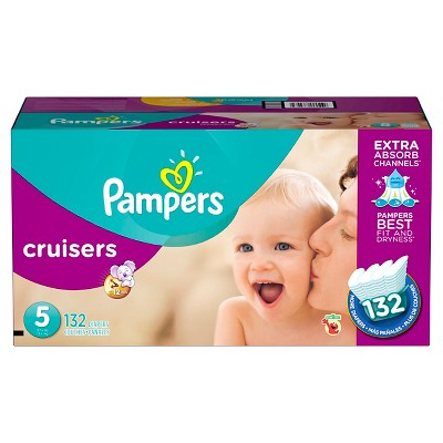 Pampers Cruisers Diapers Economy Plus Pack Size 5 (132 ct)