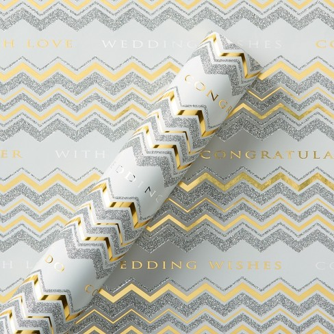 Papyrus Chevron Text Roll Wrap - image 1 of 3