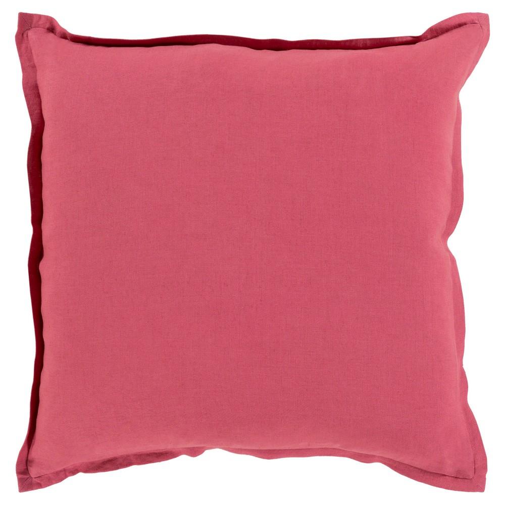 Red Cesky Handmade Throw Pillow (18x18