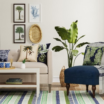blue green tropical living room collection target