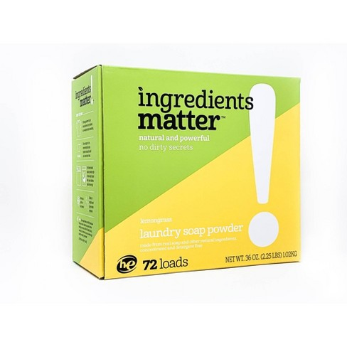 Ingredients Matter Lemongrass Laundry Soap Powder - 36oz - image 1 of 3