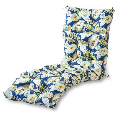 Outdoor Chaise Lounge Cushion Marlow Floral - Kensington Garden