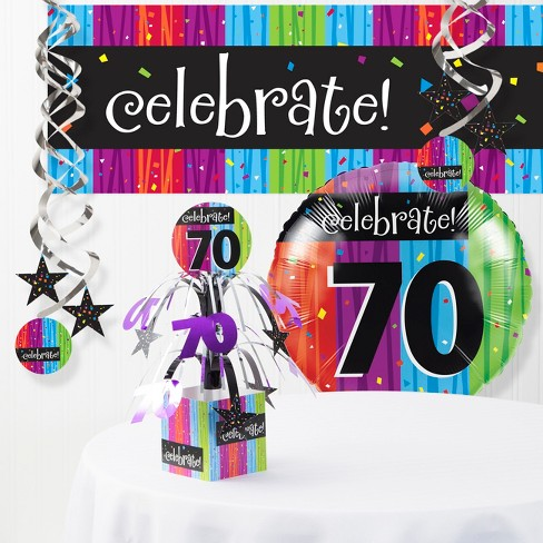 Milestone Celebrations 70th Birthday Party Decorations Kit Target