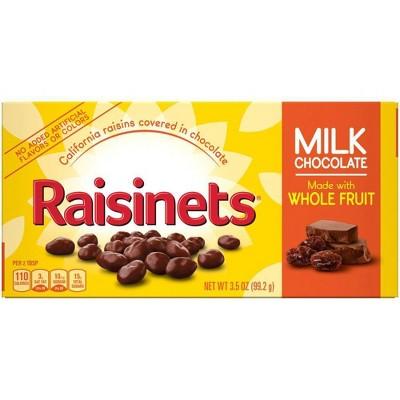 Raisinets Milk Chocolate Covered Raisins - 3.5oz