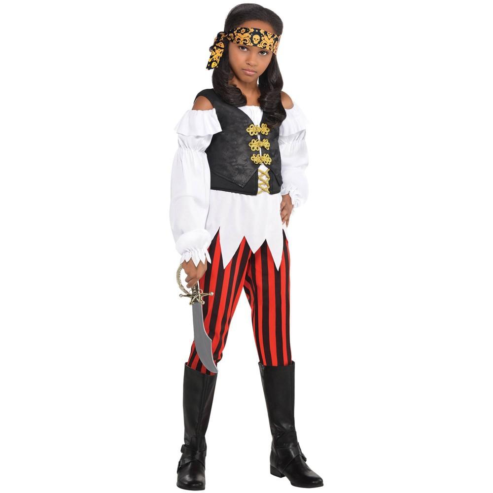 Kids 39 Pretty Pirate Girl Halloween Costume 8 10