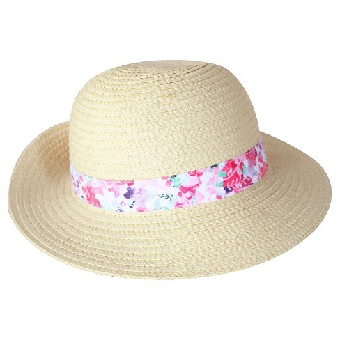 Toddler Girls' Floppy Hat Natural - image 1 of 2