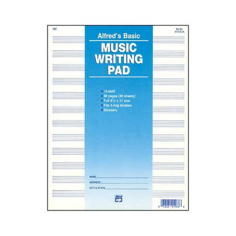 """Alfred 12 Stave Music Writing Pad (8 1/2"""" x 11"""") - image 1 of 1"""