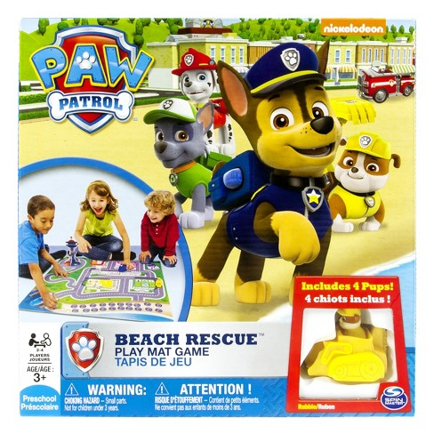 Paw Patrol Beach Rescue Play Mat Game - image 1 of 5