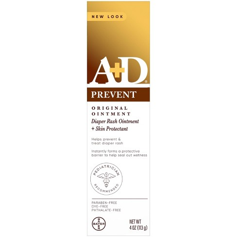A+D Original Diaper Rash Ointment, Baby Skin Moisturizer and Protectant with Vitamins A and D - 4oz - image 1 of 4