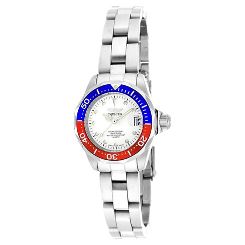 Women's Invicta 17033 Pro Diver Quartz 3 Hand Silver Dial Link Watch - Silver - image 1 of 1