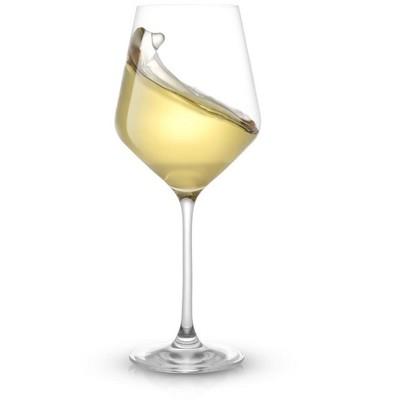 JoyJolt Layla White Wine Glasses - Set of 8 Italian Wine Glasses European Made - 13.5 oz