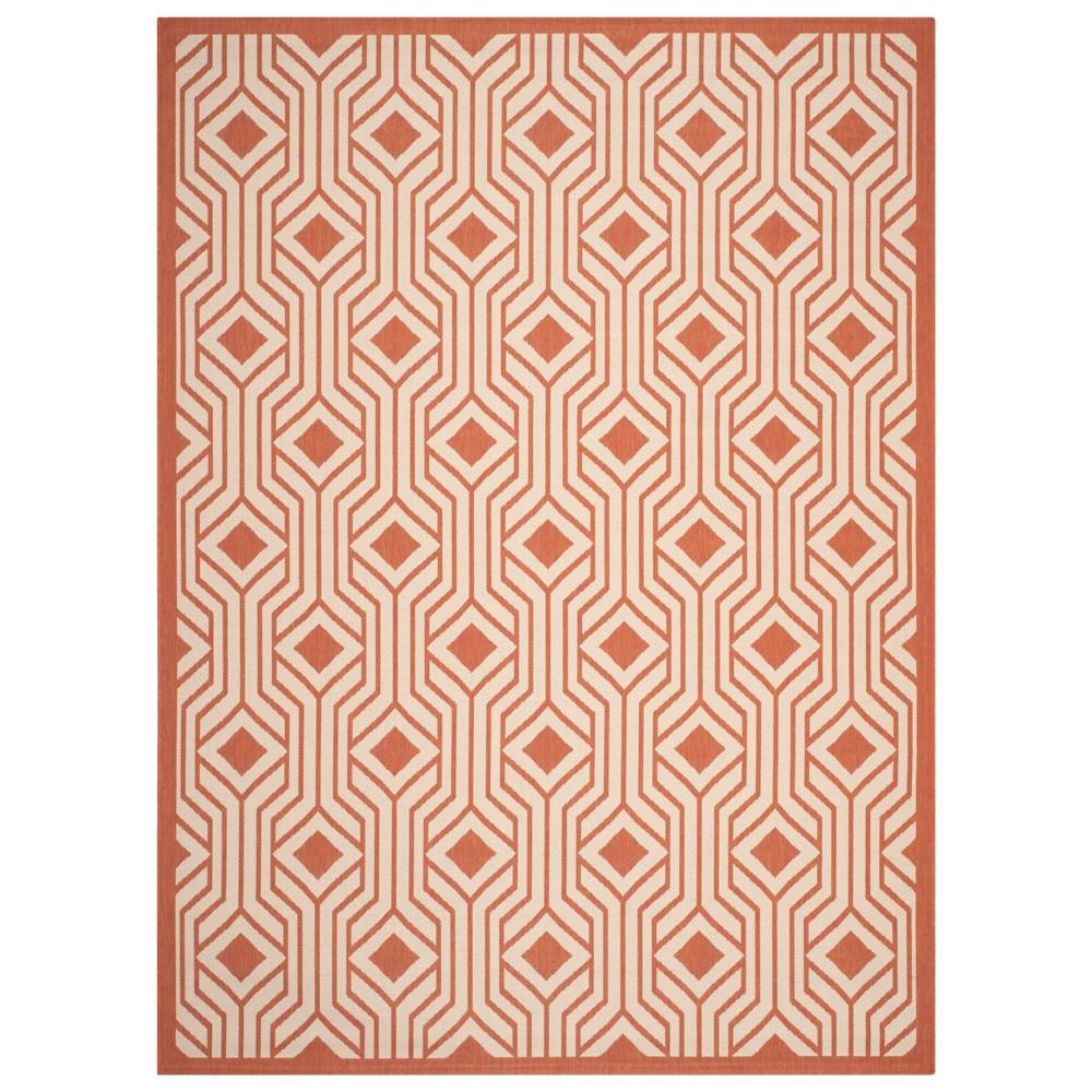 Mikela Rectangle 8' X 11' Outer Patio Rug - Beige / Terracotta - Safavieh, Orange