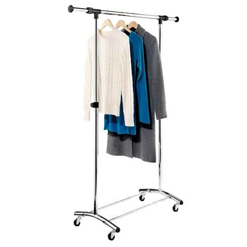 Honey-Can-Do Commercial Garment Rack - Chrome - image 1 of 3