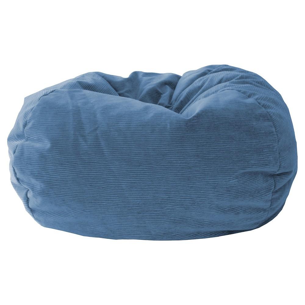 Gold Medal Micro-Fiber Suede Bean Bag Chair - Soft Sky