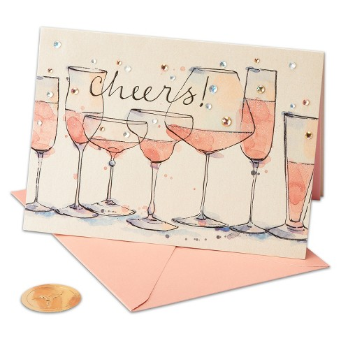Papyrus Cheers Champagne Greeting Card - image 1 of 4