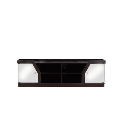 "70"" Invera 4 Shelf TV Stand Espresso - HOMES: Inside + Out"