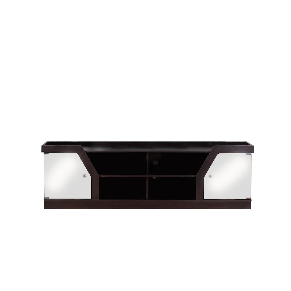 4 Shelf 70 TV Stand Espresso (Brown) - Homes: Inside + Out