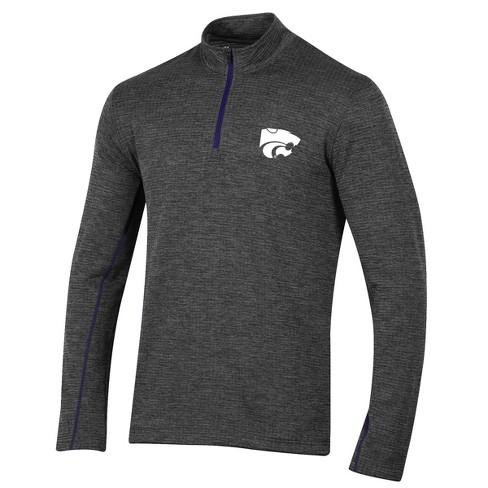 Kansas State Wildcats Men's Long Sleeve Digital Textured 1/4 Zip Fleece - Gray - image 1 of 2