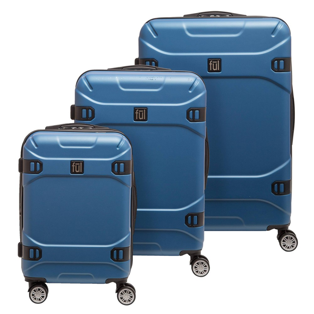 Image of FUL 3pc Molded Hardside Spinner Luggage Set - Blue Sky, Size: Small