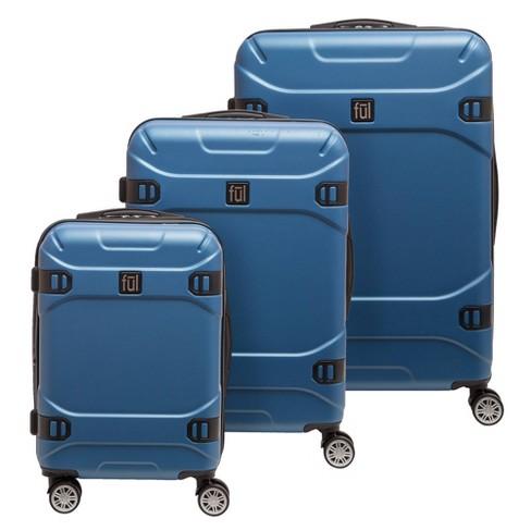FUL 3pc Molded Hardside Spinner Luggage Set - Blue Sky - image 1 of 4