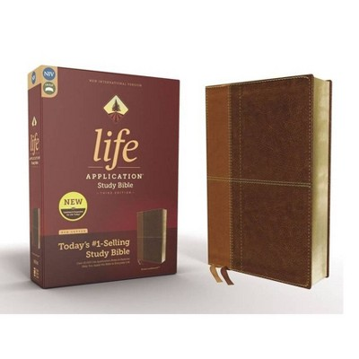 Niv, Life Application Study Bible, Third Edition, Leathersoft, Brown, Red Letter Edition - by  Zondervan (Leather Bound)