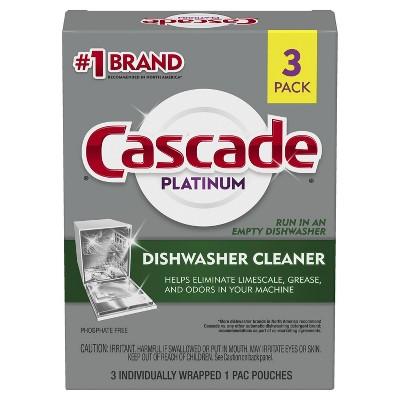 Cascade Platinum Dishwasher Cleaner - 3ct