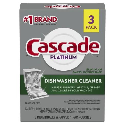 Cascade Platinum Dishwasher Cleaner - 3ct - image 1 of 4