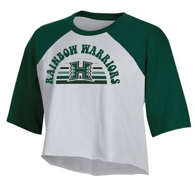 NCAA Hawaii Rainbow Warriors Women's Short Sleeve Cropped T-Shirt
