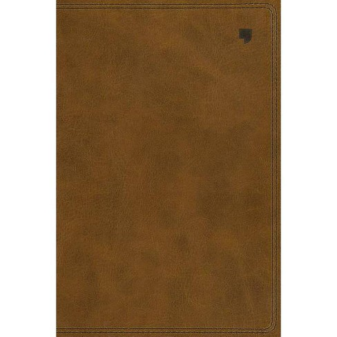 Net Bible, Single-Column Reference, Leathersoft, Brown, Comfort Print - by  Thomas Nelson - image 1 of 1