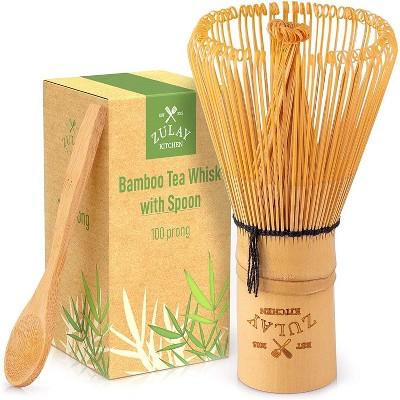 Zulay Kitchen Matcha Tea Whisk, Bamboo - 100 prong