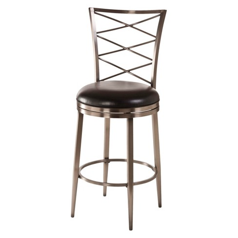 "Harlow Swivel 30"" Barstool Metal/Silver - Hillsdale Furniture - image 1 of 1"