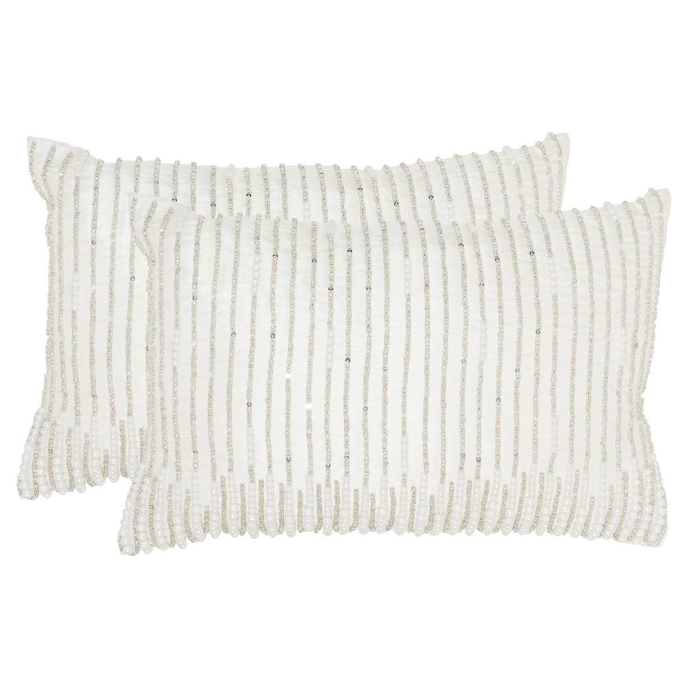Silver Set Orat Throw Pillow - Safavieh