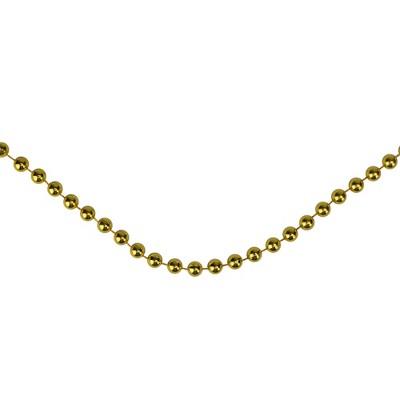 Northlight 66' Metallic Gold Beaded Christmas Garland - Unlit