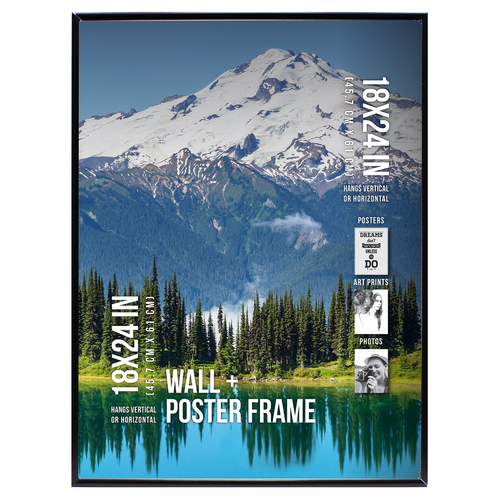 "Image of ""Poster Frame Thin Profile - Black - (18""""x24"""")"""