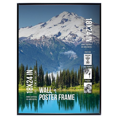 "Poster Frame Thin Profile - Black - (18""x24"") - image 1 of 2"