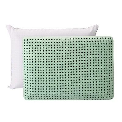 Green Tea Memory Foam Pillow 2pk (Jumbo)Green - Authentic Comfort®