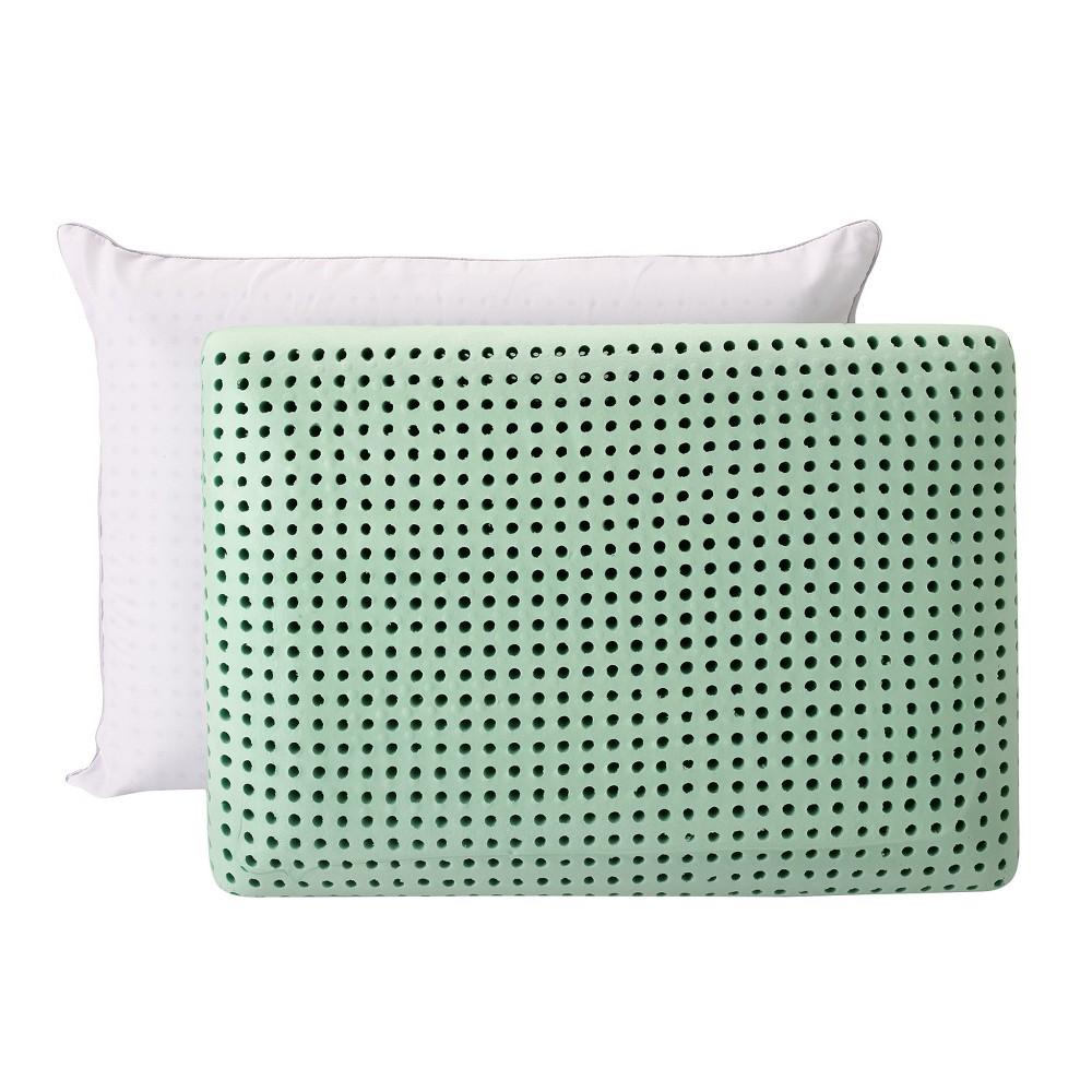 Green Tea Memory Foam Pillow 2pk (Standard) Green - Authentic Comfort