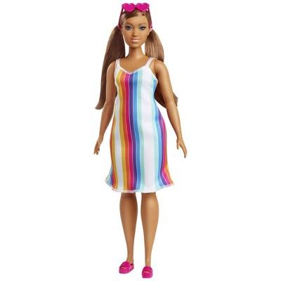 Barbie Loves the Ocean Doll - Rainbow Stripe Dress