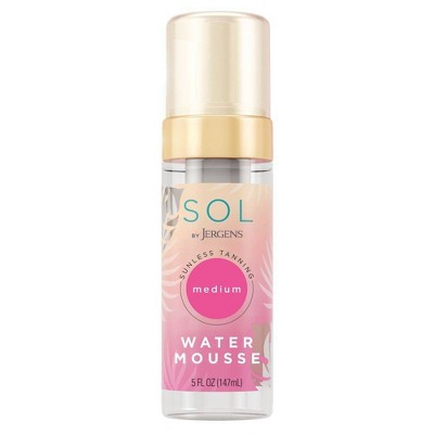 SOL By Jergens Self Tanner Medium Water Mousse - 5 fl oz