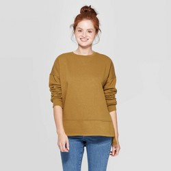 Women's Long Sleeve Crewneck Fleece Tunic Pullover Sweatshirt - Universal Thread™