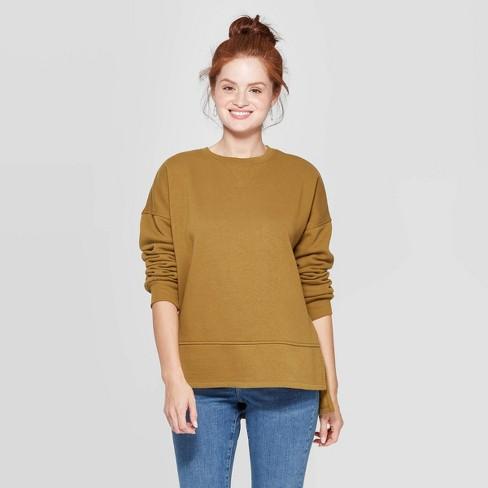 Women's Long Sleeve Crewneck Fleece Tunic Pullover Sweatshirt - Universal Thread™ - image 1 of 3